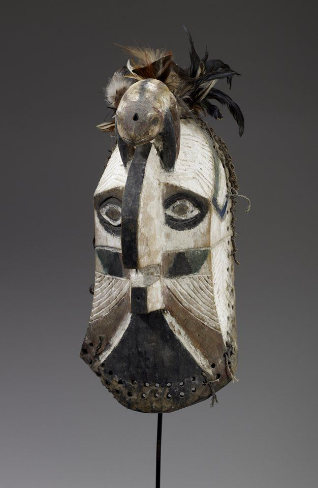 "Africa | ""Kifwebe"" Mask with Frog from the Songye people of DR Congo 