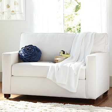 Chair + Half Sleeper #pbteen-  no need for sleeper but like double chair - Chloe's room
