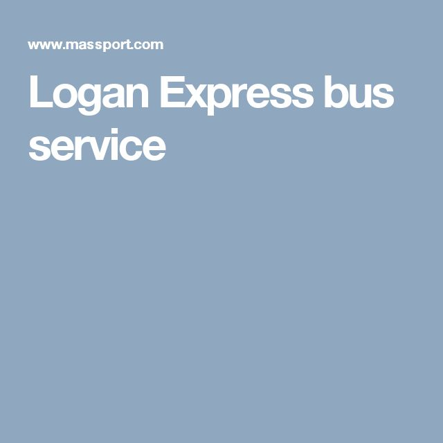 Logan Express bus service