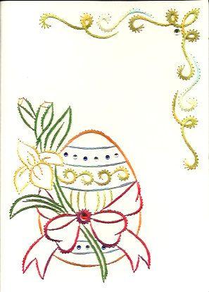 Easter Egg with flower van HandmadeCardsByAnita op Etsy