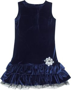 Velveteen kid silk dress - Google Search