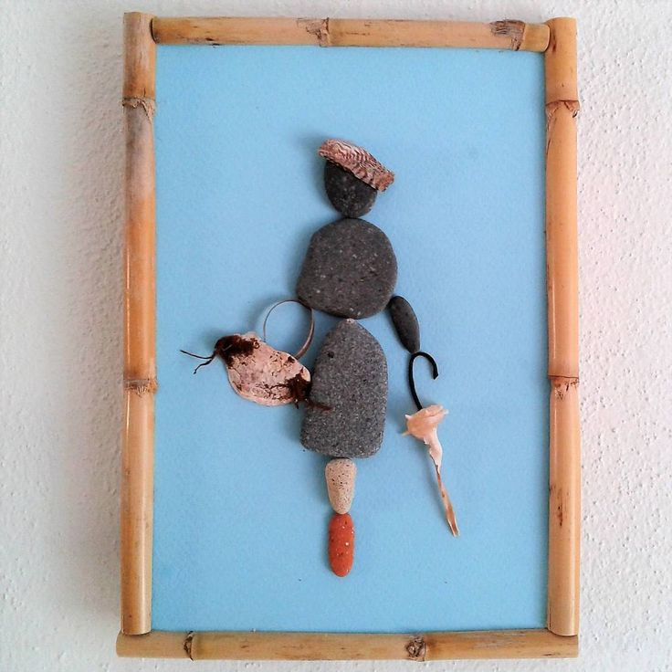 Is it raining now? #pebbles #shells #art #pebblebeach  #pebbleart