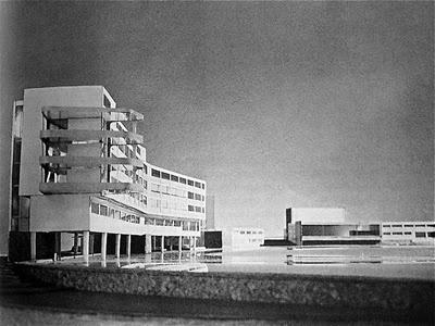 Walter Gropius and Marcel Breuer, Lake Eden Campus model,1939