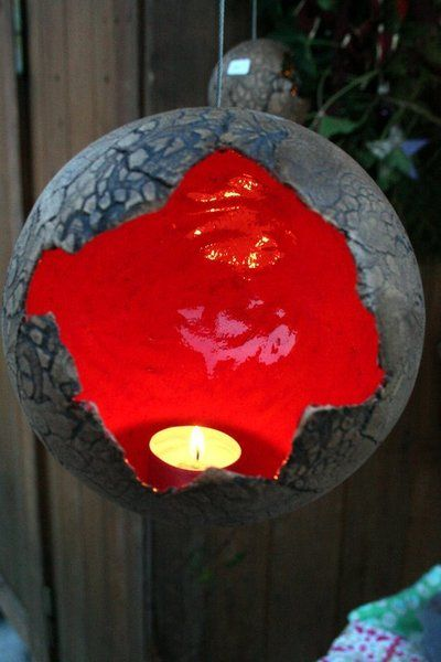 HängeWindlicht 16 cm von KeramikMaus - Kreatives aus Keramik für Haus & Garten auf DaWanda.com