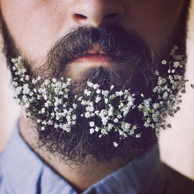 Guys Are Decorating Their Beards With Flowers And It's Awesome