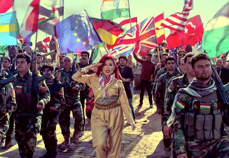 """Pop star Helly Luv, known as the """"Kurdish Shakira,"""" is fighting ISIS with music"""