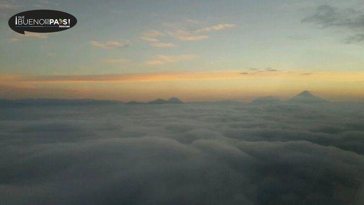 Usuario de twitter @gian4222 comparte imagen del amanecer en la Costa Sur, Guatemala.