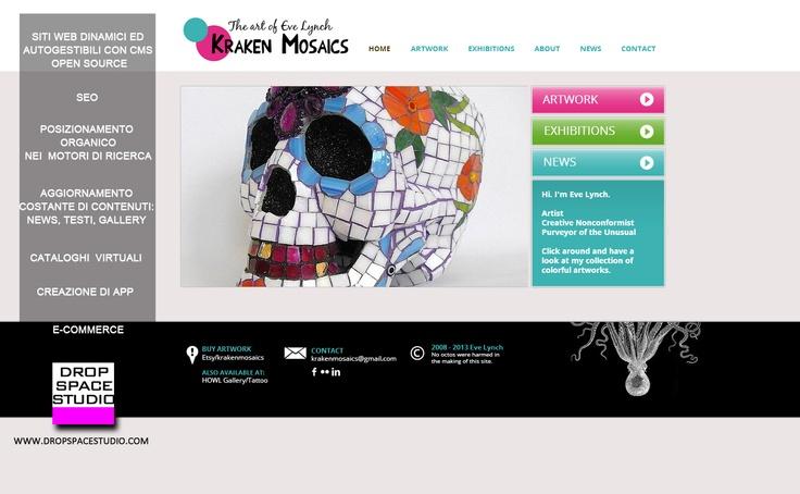 Esempio di template per sito web. Drop Space Studio - Agenzia di Comunicazione