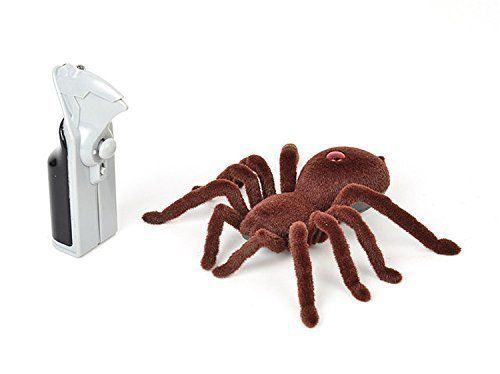 Doll Playsets - Remote Control Infrared Realistic RC Spider Toy Fuzzy Crawler 2CH RTR Prank RC Toys Robot Animal Toys * Continue to the product at the image link.