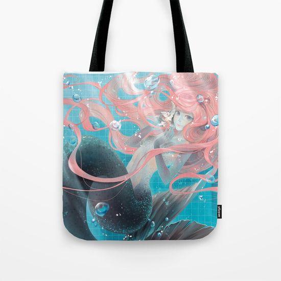 pool mermaid Tote Bag by Lüleiya | Society6
