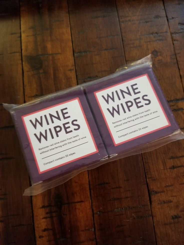 wine wipes, compact.  20 wipes per compact, 5$ each