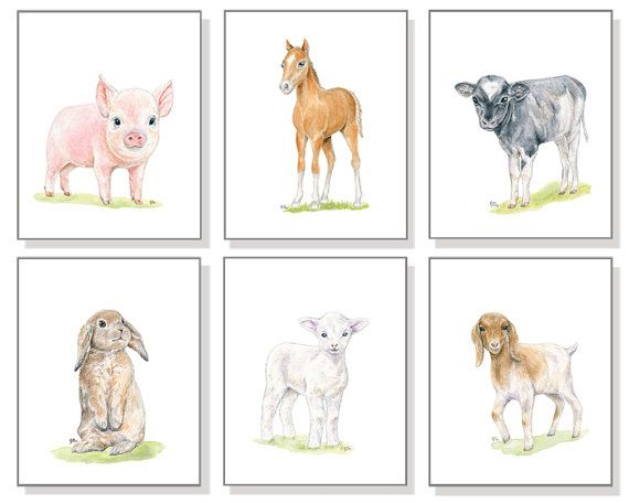 Farm Animal Nursery Decor Farm Nursery by JamesRiverStudios