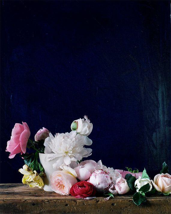 Flower Photograph No. 88242 Materials: peony, dusty miller, garden rose