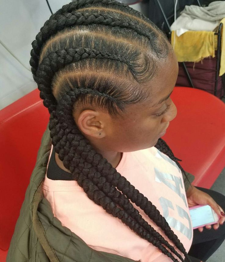 6 Straight Back Cornrows Natural Inspiration Pinterest