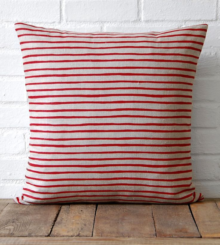 Striped Linen Throw Pillow : 398 best pillows images on Pinterest Cushions, Decorative pillows and Throw pillows