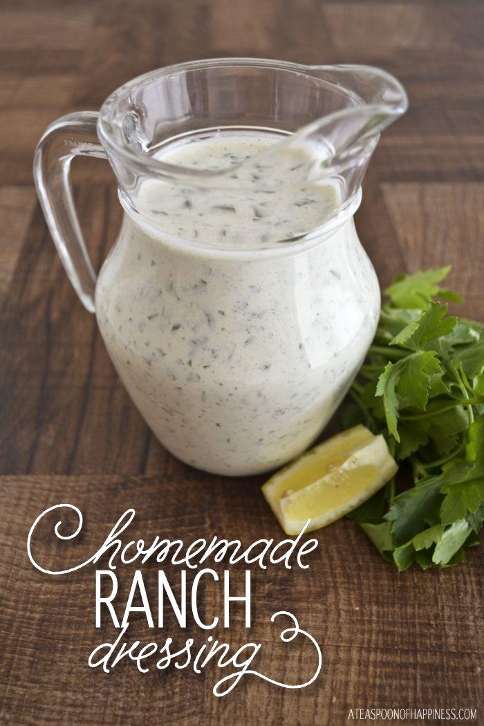 Aderezo Ranch Homemade - ATEASPOONOFHAPPINESS.COM