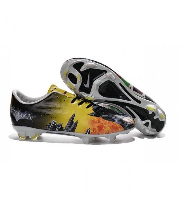 Acheter Chaussure de Football Hommes Nike Mercurial Vapor 10 FG Batman & Clown Vert Rouge Jaune Noir pas cher en ligne 90,00€ sur http://cramponsdefootdiscount.com