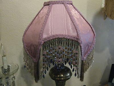 21 best victorian lamp shadeslampslighting images on pinterest victorian french medium lamp shade princess rose bead fringe tassels aloadofball Gallery