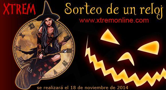 SORTEAMOS UN RELOJ DE PARED BRUJA 45 x 30 cm. #Halloween ¿Cómo participar? 1. Entra en nuestra página de facebook: XTREM y hazte seguidor nuestro. 2. Comparte esta imagen en tu muro. 3. Envíanos un e-mail a concursos@xtremonline.com con tu nombre, número de contacto y ciudad. El sorteo se realizará el 18 de Noviembre de 2014. ¡Mucha Suerte! #sorteos #concursos #xtremonline www.xtremonline.com *Concurso para residentes en España
