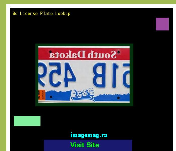 Sd license plate lookup 190503 - The Best Image Search