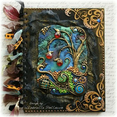 Mixed media journal cover..love it!