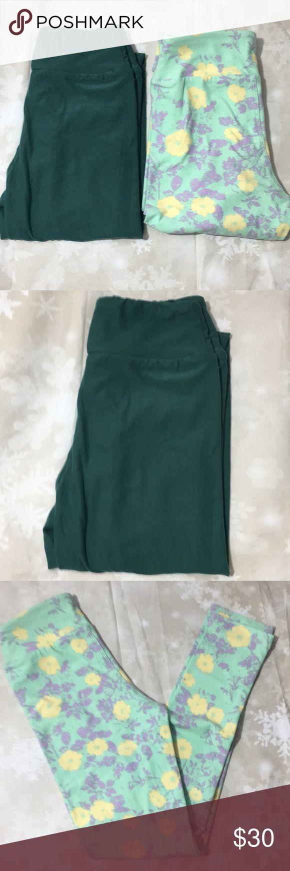 LulaRoe Tween bundle of 2 leggings 2 tween LLR Leggings new never worn LLR does not tag leggings I solid 1 print LuLaRoe Pants Leggings