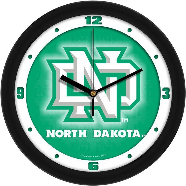 Mens North Dakota Fighting Hawks - Dimension Wall Clock