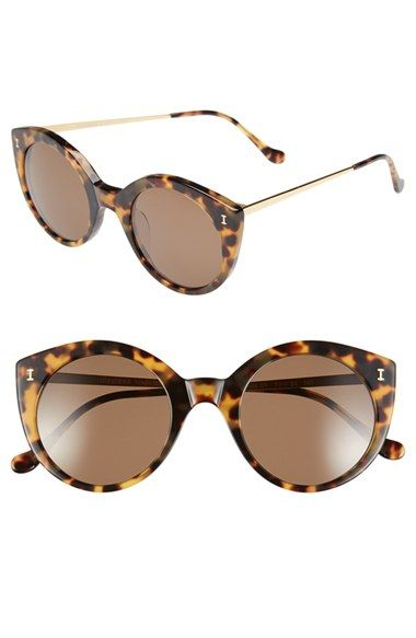 Illesteva+'Palm+Beach'+50mm+Round+Sunglasses+available+at+#Nordstrom