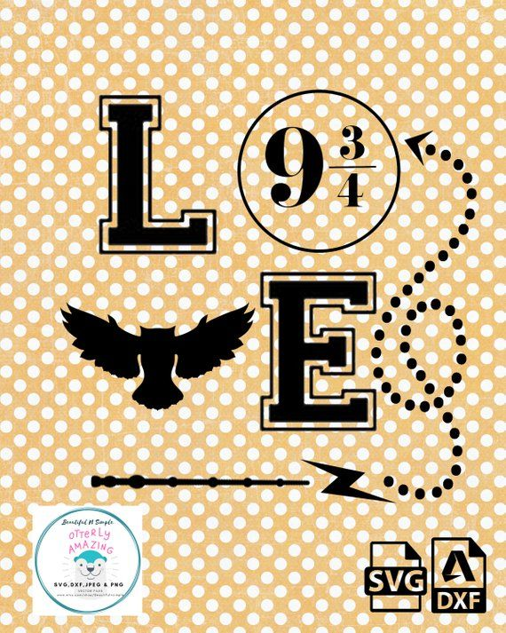 Download Love Harry Potter inspired, SVG and DXF File | Harry ...
