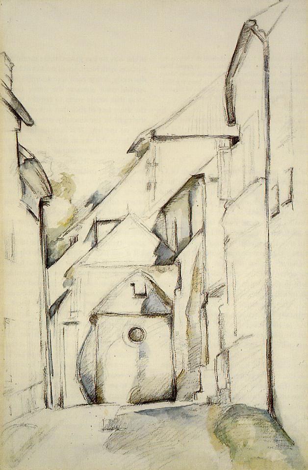 The Church of Saint-Pierre in Avon , by Paul Cezanne