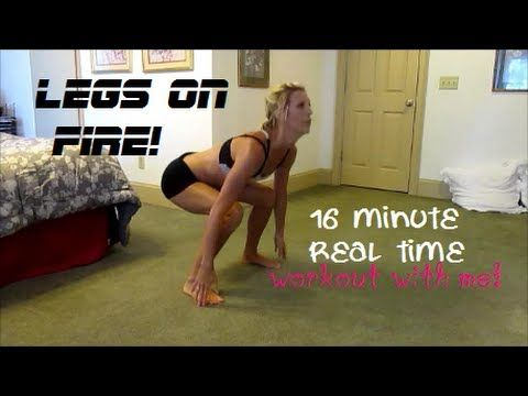 Legs On Fire! Real Time Workout - She has a LOT of really great workout videos