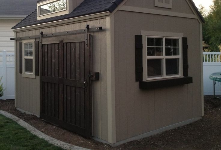 Use Sliding Barn Doors For Storage Shed In 2019 Shed