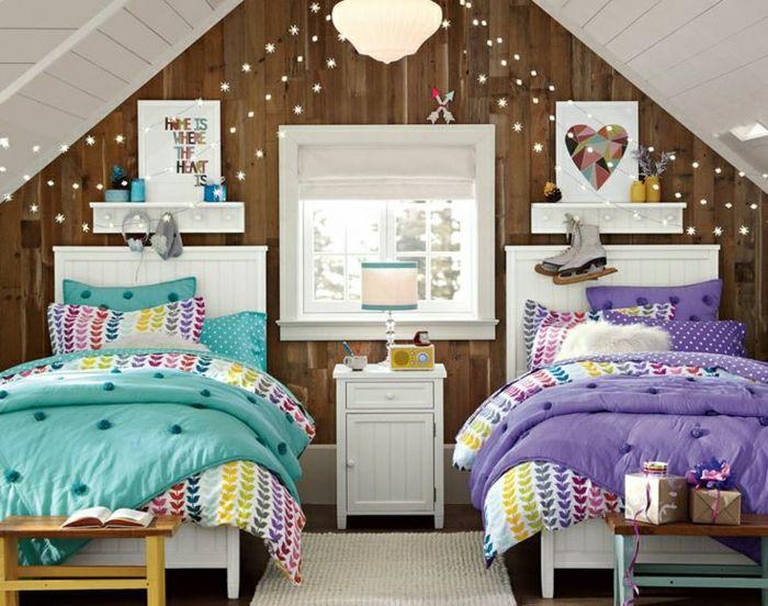 décoration-chambre-ado-filles-deux