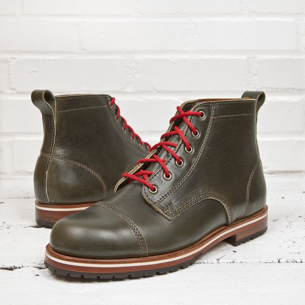 HELM Boots – Marion Olive. Olive Green Horween Chromexcel leather. Made in USA.