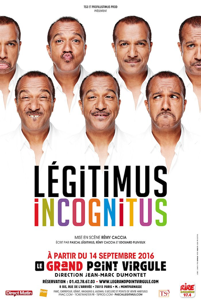 Spectacle : Pascal Légitimus Incognitus , à Paris, et son nouveau clip à découvrir