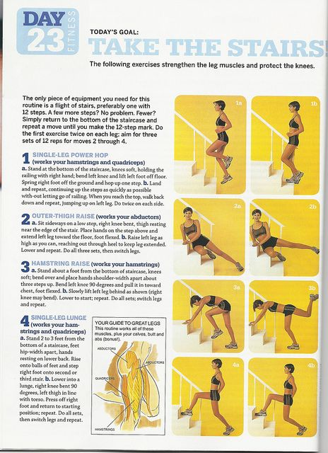 Stair workout for a lower body blast, via Flickr