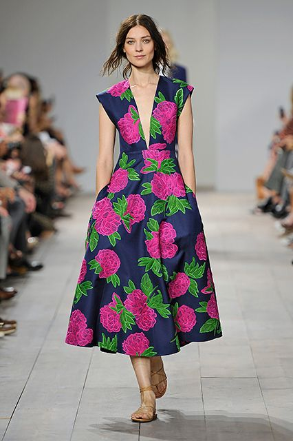 Spring 2015 Fashion Trends - New York Fashion Week #florals #fashion #dress #runway