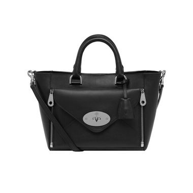Mulberry Small Willow Tote in Black Silky Classic Calf  With Nickel hardware. Sooo in love with it. June 2015.