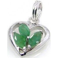 1.95ctw Genuine Emerald & Solid .925 Sterling Silver Pendant (SJP10018EMR), Birthstone Pendants. Buy Now: http://www.sterlingsilverjewelry.tv/genuine-emerald-925-sterling-silver-pendant-sjp10018emr.html #sterlingsilverpendant #silverpendantjewelry #pendantsilver #menpendant