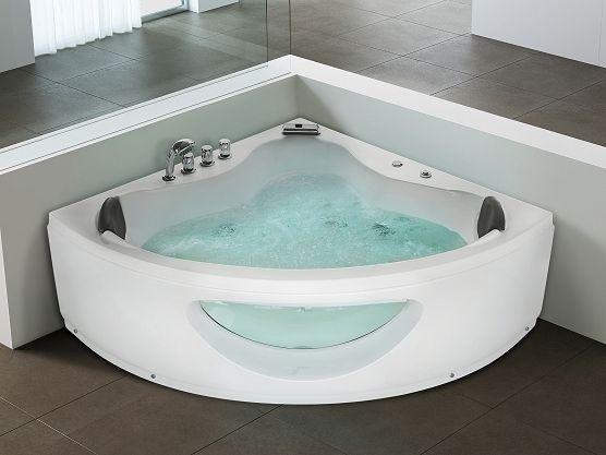 https://www.beliani.ch/badezimmer-moebel/alle-badewannen/whirlpool-indoor-jacuzzi-sprudelbad-spa-badewanne-eckig-tocoa.html Indoor corner Whirlpool for a luxury bathroom!