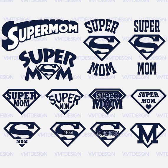 Supermom svg Supermom shield svg Supermom logo svg