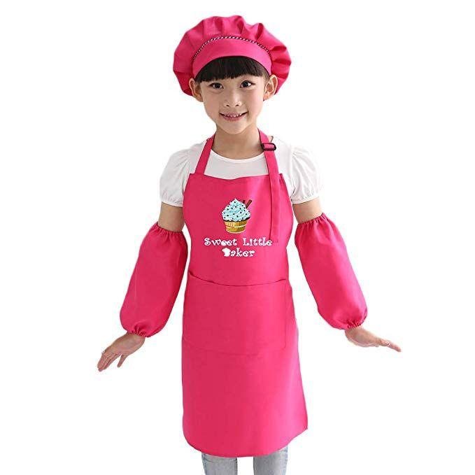 Alisaprincessq Cooking Apron Chef Hat Set Kid S Size Children S