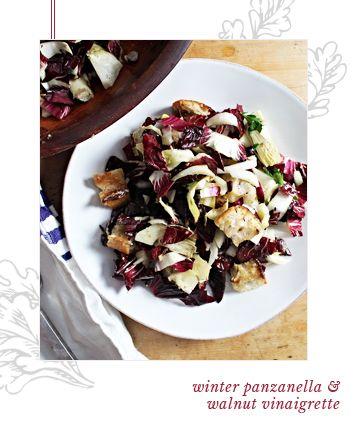 Winter Panzanella and Walnut Vinaigrette