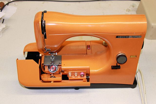 My orange beauty #sewingmachine #orange