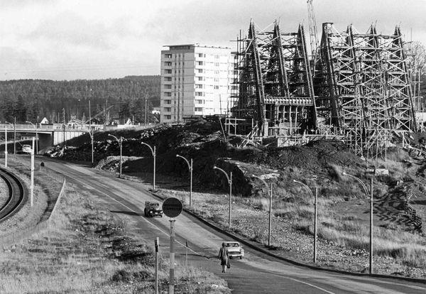 bygging av Manglerud kirke 1961-1962