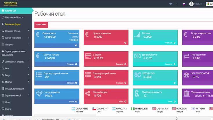 SWISSCOIN Создание и активация SIC-кошелька SIC-wallet партнера компании