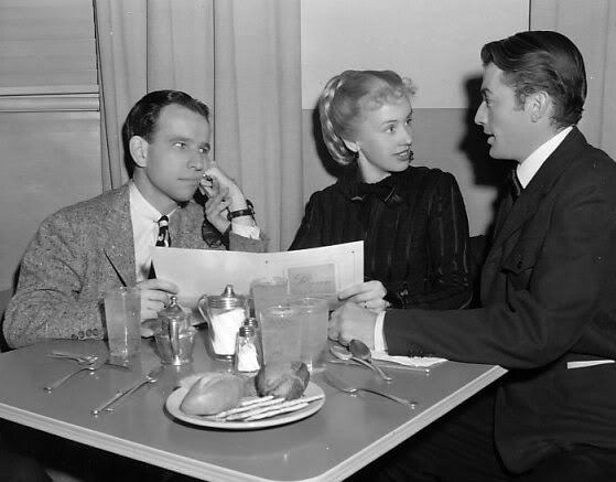 Hume Cronyn, Jessica Tandy and Gregory Peck