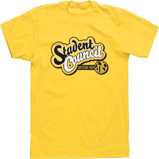 custom student council t shirt tee high school design