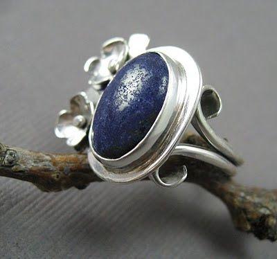 Silver.Work : Amanda's lapis lazuli ring
