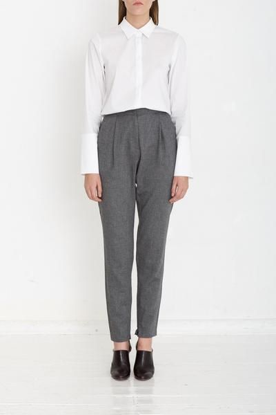Yasmin Raquel MADE TO ORDER Straight Pants - Charcoal. Women's Fashion , Natural fibers , Handmade Clothing